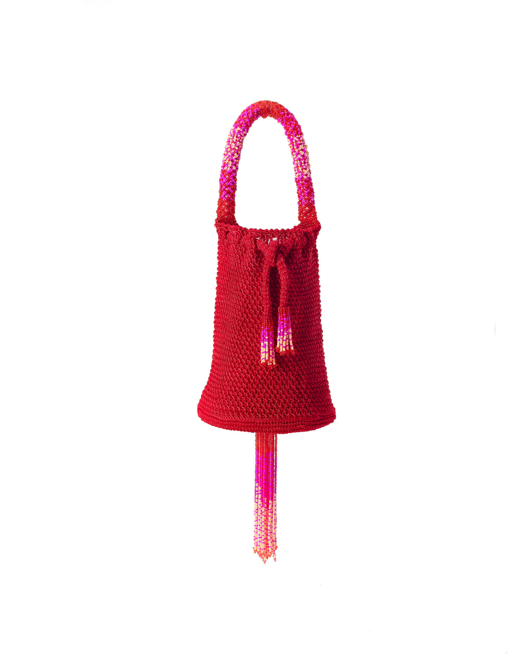 Red Mini Crochet Party Bag - JETLAGMODE