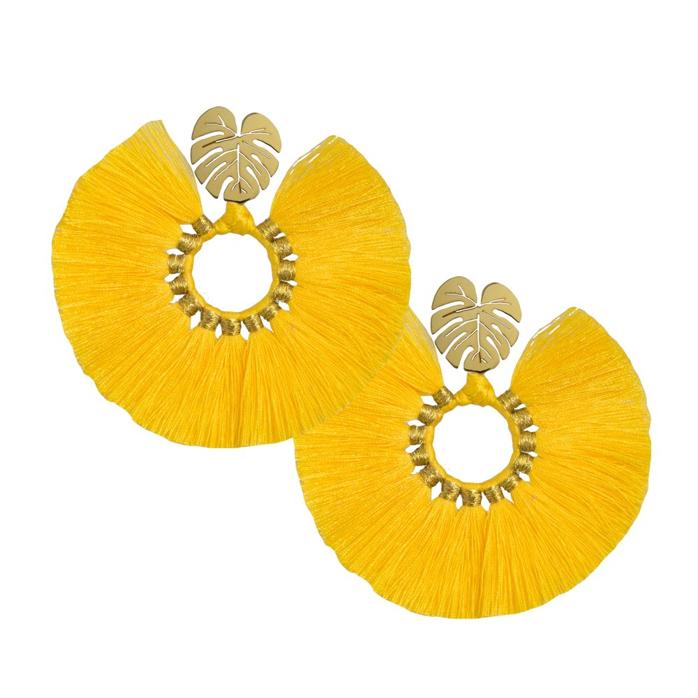 Yellow Wild Flower Earrings - JETLAGMODE