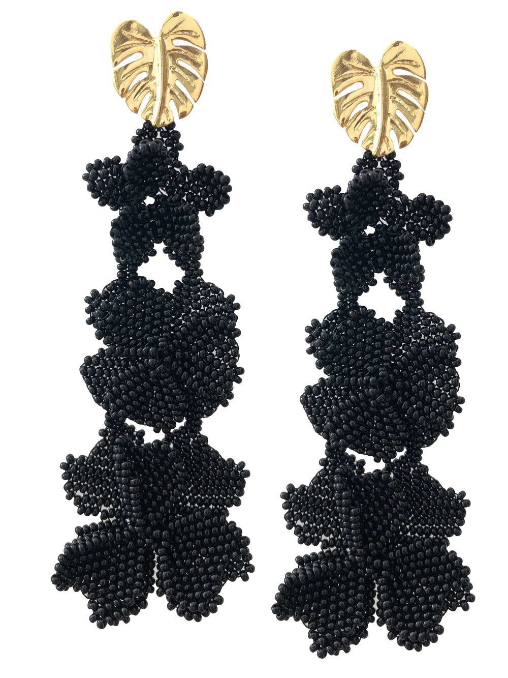 Black Garden Earrings - JETLAGMODE