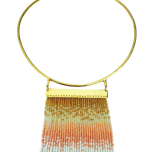 Peach Waterfall Necklace