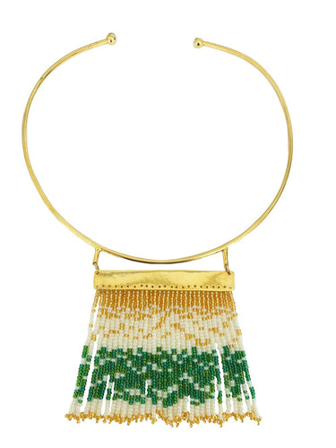 Green Waterfall Necklace - JETLAGMODE