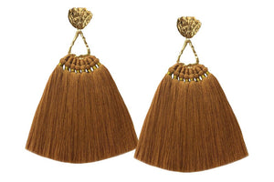 Mustard Machu Pichu Earrings - JETLAGMODE