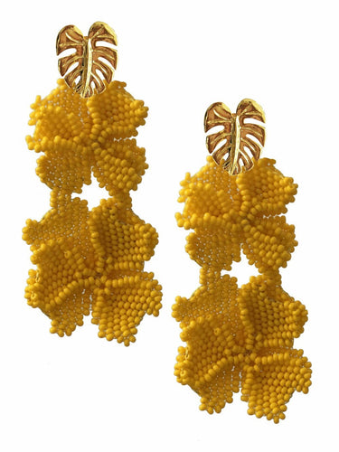 Yellow Garden Earrings - JETLAGMODE