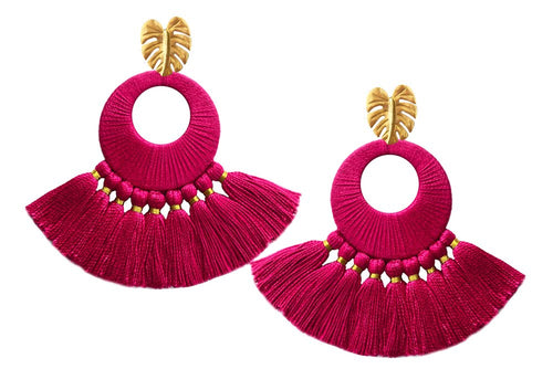 Fuchsia Florentine Earrings - JETLAGMODE