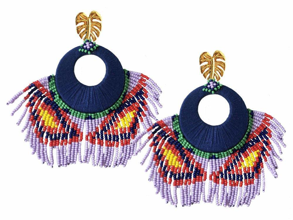 Blue Tropicalia Earrings - JETLAGMODE