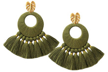 Load image into Gallery viewer, Olive Florentine Earrings - JETLAGMODE