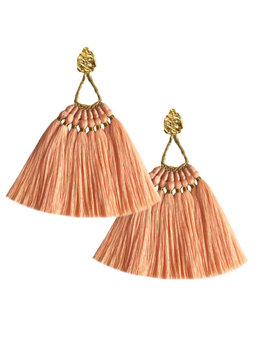 Peach Machu Pichu Earrings - JETLAGMODE
