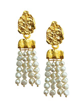 Load image into Gallery viewer, Pearl Waterfall Earrings - JETLAGMODE