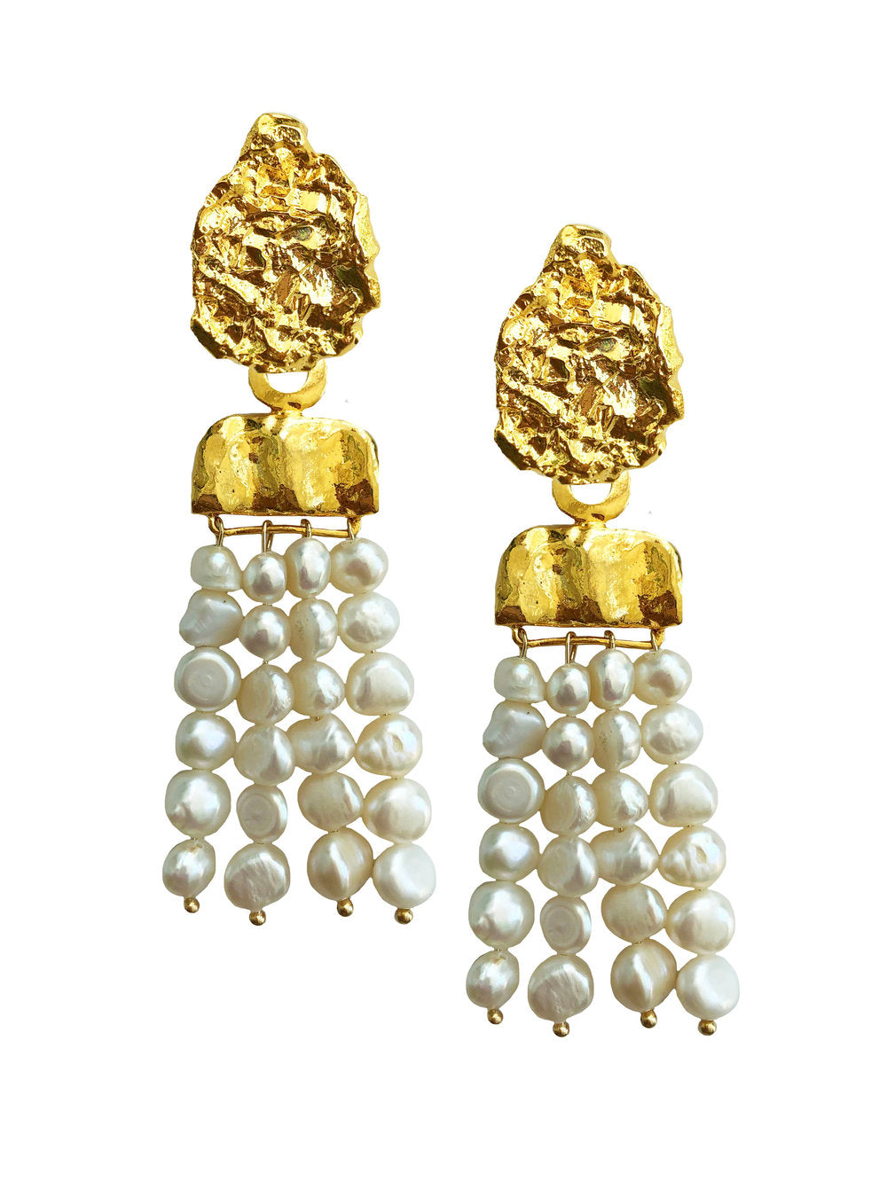 Pearl Waterfall Earrings - JETLAGMODE