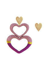 Load image into Gallery viewer, Pink Mixed Love Earrings - JETLAGMODE