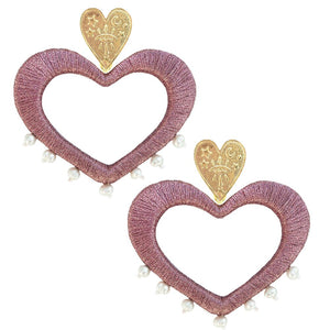 Pink For the Love of Pearls Earrings