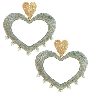 Silver For the Love of Pearls Earrings