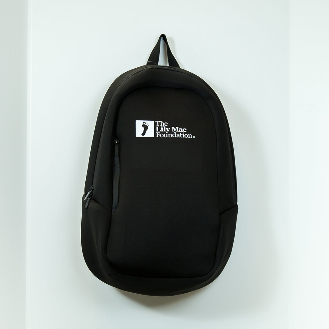 Lily Mae Foundation Branded Black Back pack