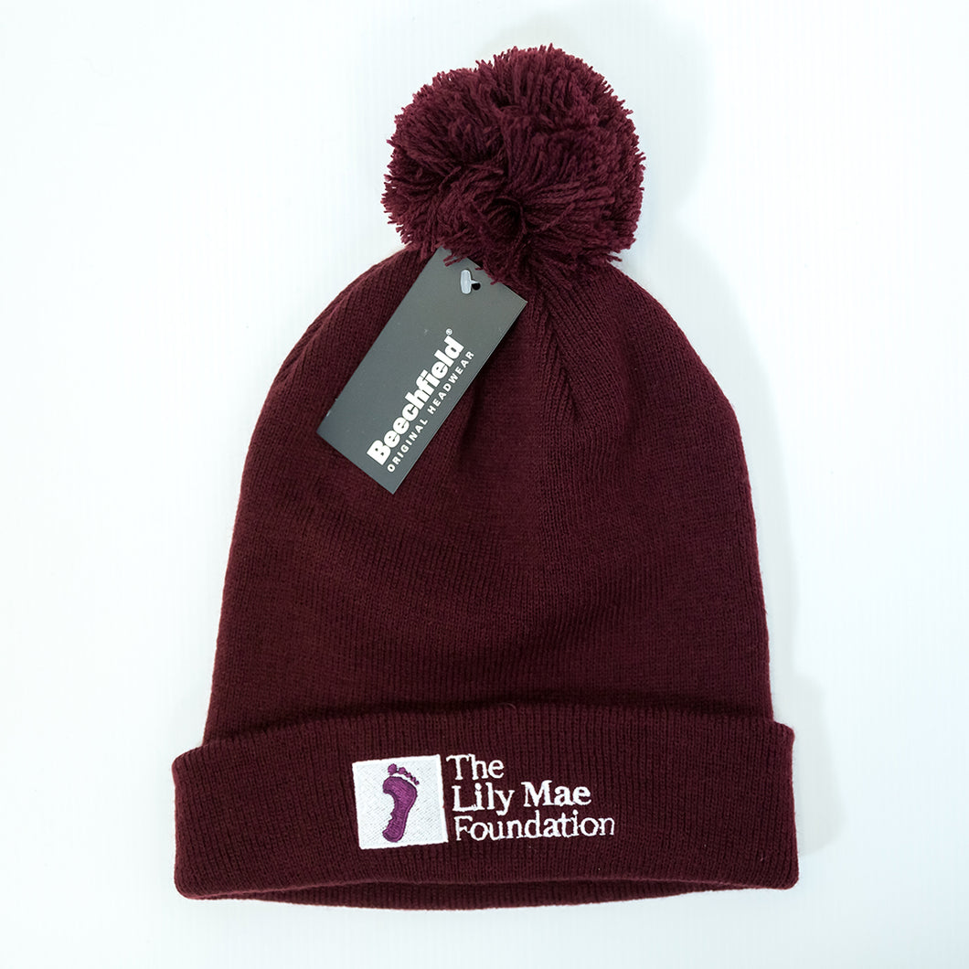 Lily Mae Foundation Branded Purple Beanie