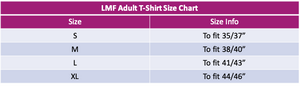 LMF Blue Branded Cotton T-Shirt