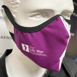 Lily Mae Foundation Purple & White Patterned Branded Face Coverings
