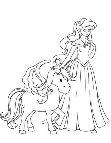 Top 15 Coloriages Princesse Licorne Dessin Licorne