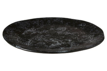 Load image into Gallery viewer, Hygge Pizza Plate, Black Faux Marble