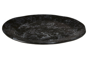 Hygge Pizza Plate, Black Faux Marble