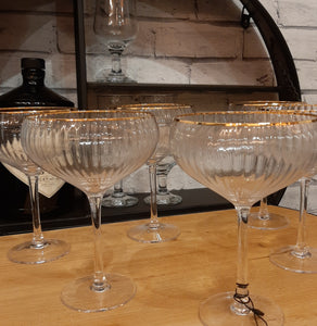 Pair Traditional Coupe Champagne Glasses