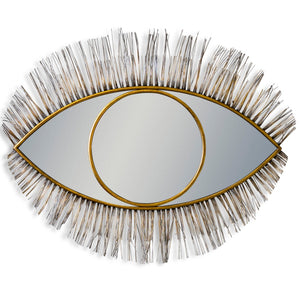 large gold boho eye mirror