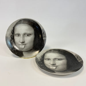 Black and White Mona Lisa Face Plate - Headphones