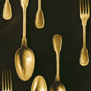 MTG Wallpaper Cutlery Brass WP20246