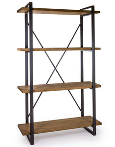 Large Metal and Wood Shelving Unit
