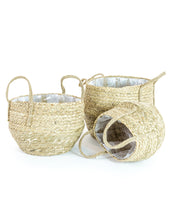 Load image into Gallery viewer, Set of 3 Basket Planters