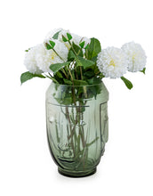 Load image into Gallery viewer, Green Glass Face Vase