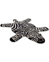 Load image into Gallery viewer, Hand Tufted Zebra Woollen Rug