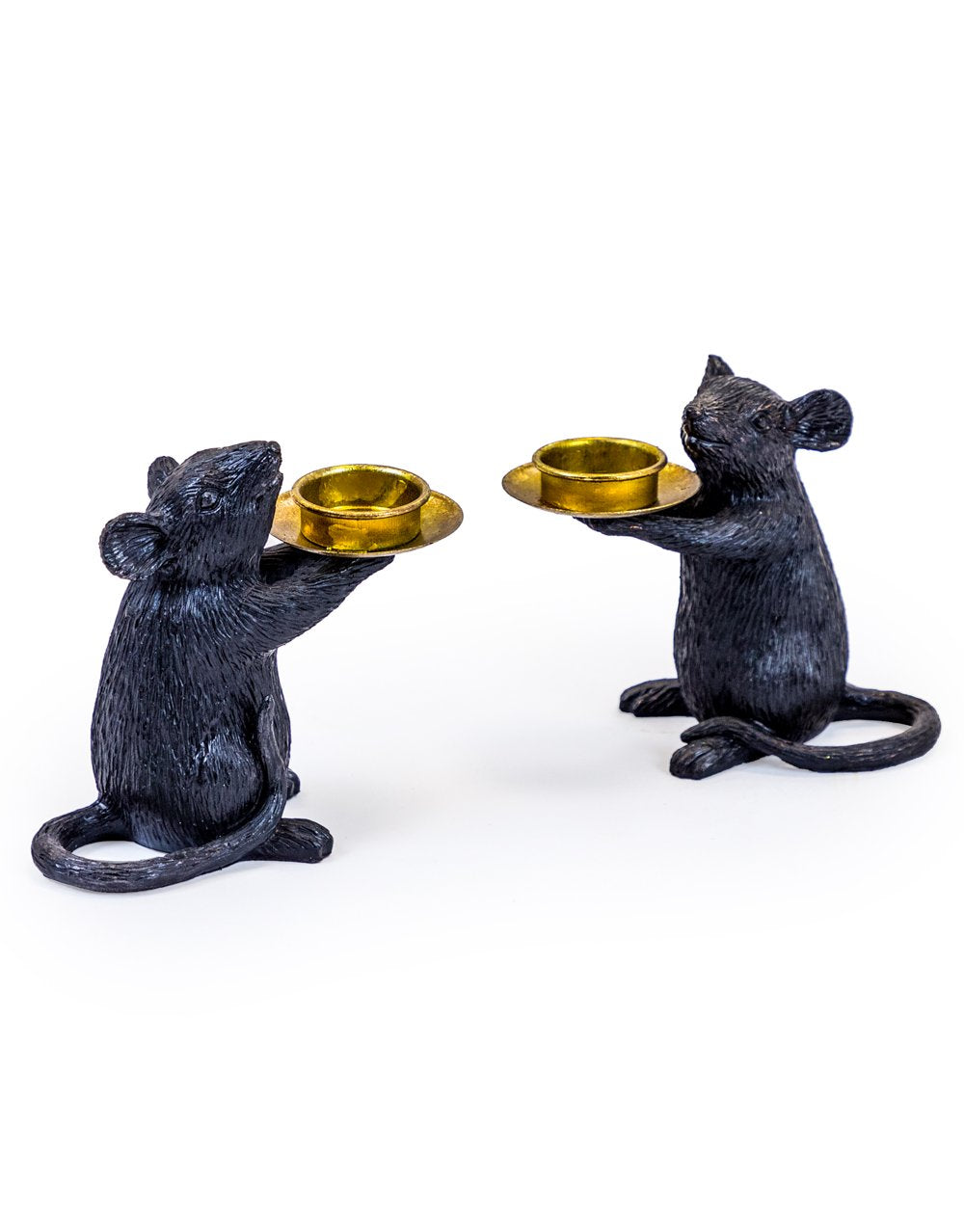 Black Mice Tea LIght Holders set of two