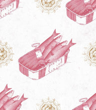 Load image into Gallery viewer, MTG Wallpaper Sardines Red WP20011