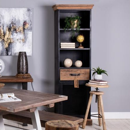 Baxter Reclaimed Wood and Metal Cabinet