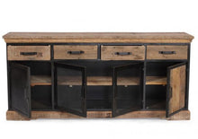 Load image into Gallery viewer, Baxter Reclaimed Wood and Metal 4 Door Sideboard