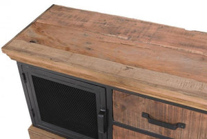 Baxter Reclaimed Wood and Metal TV Unit