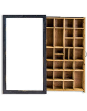 Load image into Gallery viewer, Antiqued Black Wooden Wall Display Cabinet