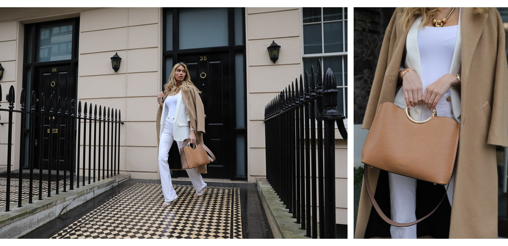 Olivia Handbag in Camel - New Style from Luella Grey London