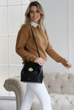 Load image into Gallery viewer, Cleo Black Small Cross Body Handbag Model View