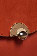 Load image into Gallery viewer, Melissa Rust Purse Wooden Lock View