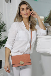 Esme Apricot Day to Evening Cross Body Model View