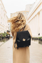 Load image into Gallery viewer, Bella Black Large Backpack