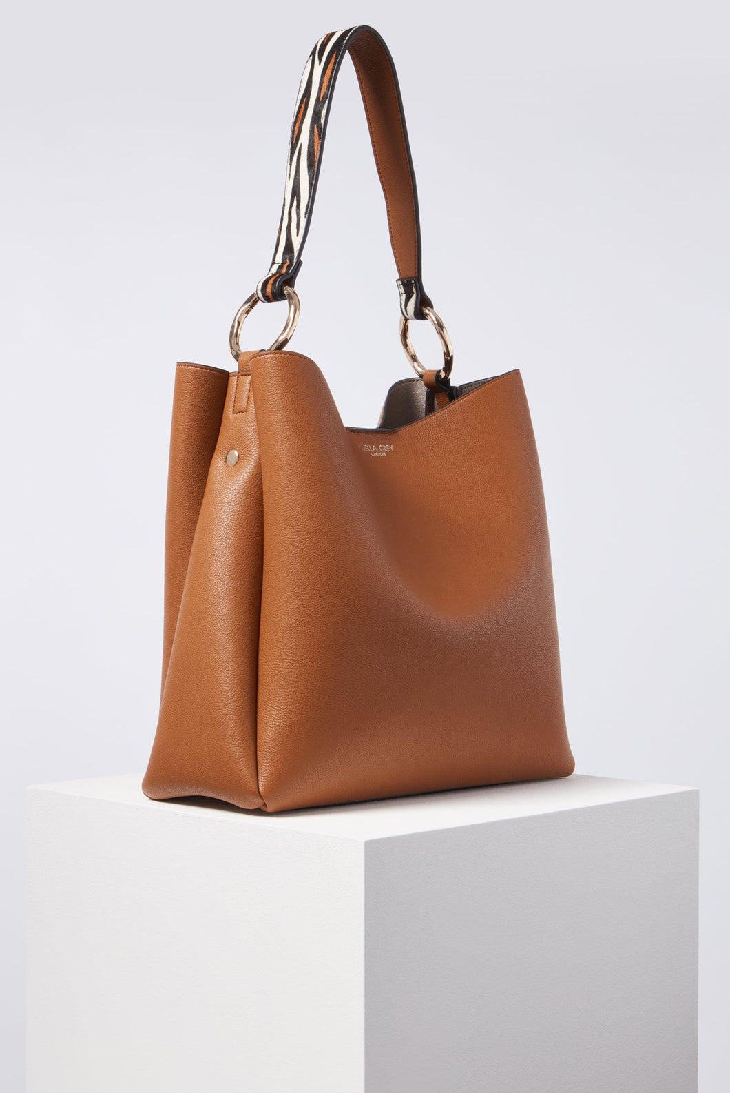 Isadora Tan Soft Large Hobo Side View