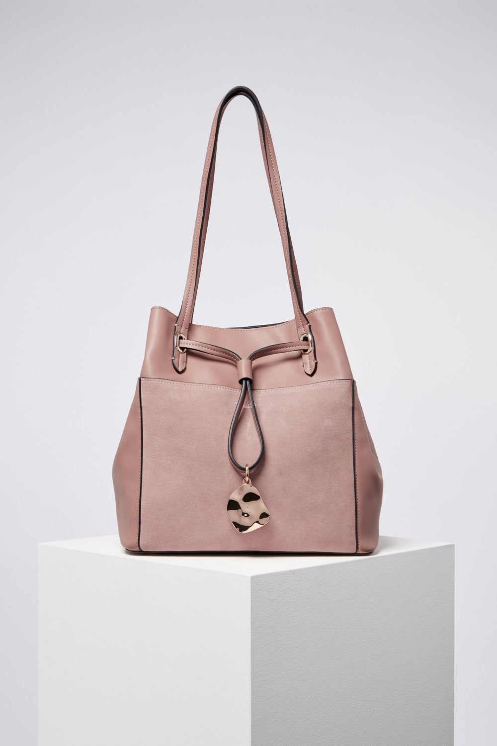 Ophelia Mink Large Drawstring Shopper