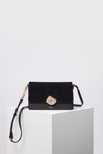 Load image into Gallery viewer, Esme Black Cross Body Bag Front View