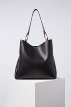 Load image into Gallery viewer, Isadora Black Hobo With Reptile Print Handle