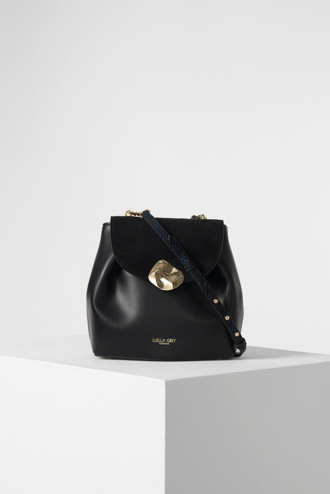 Cleo Black Small Cross Body Handbag Front View
