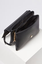 Load image into Gallery viewer, Megan Black Sculptured Lock Cross Body