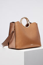 Load image into Gallery viewer, Olivia Camel Triple Compartment Tote
