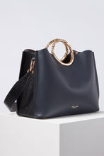 Load image into Gallery viewer, Olivia Navy Triple Compartment Tote